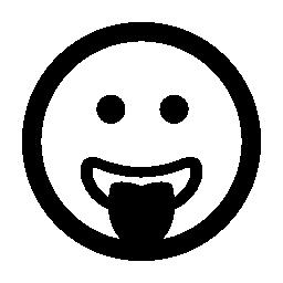 絵文字無料のアイコンを舌で四角い顔