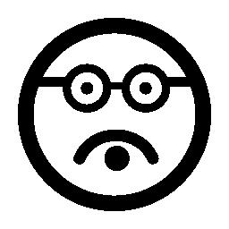 知的絵文字無料の正方形の顔のアイコン