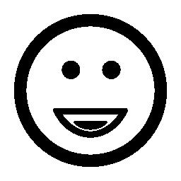 スマイリーの正方形の丸い顔無料アイコン