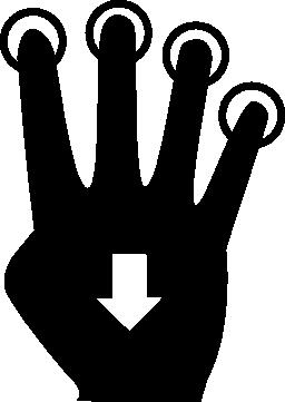 4 本の指の無料アイコン