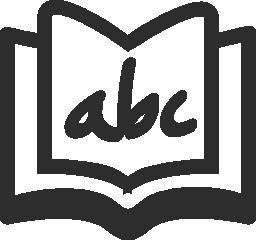 アルファベットの本の無料のアイコン