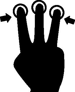 3 本の指手無料アイコン