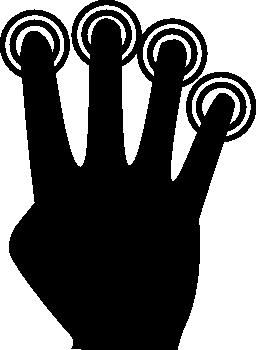 指 4 無料のアイコンをタップします。