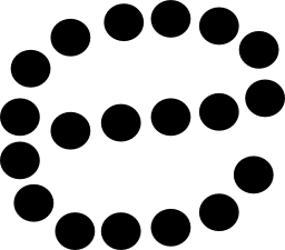 無料アイコンのドットで形成された E