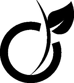 単純なフルーツ ロゴタイプ無料アイコン