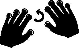 左の無料アイコンを工夫するすべての指をプッシュします。