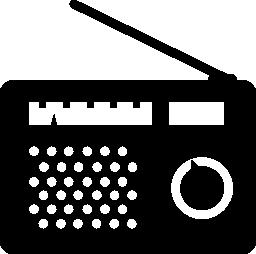 古いラジオ。ビンテージ無料アイコン