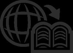 地理学の本の無料のアイコン