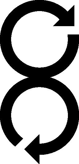 無料のアイコンを 2 つの円形矢印