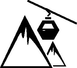 ケーブル鉄道の山脈無料アイコン