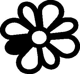 花びらを他の色の無料アイコンとマルグリット