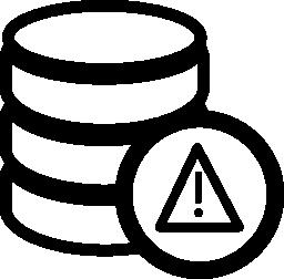 警告データベースの無料のアイコン