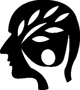 自然要素無料のアイコンを持つ男の頭
