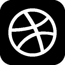 無料ベクトルのアイコンの最大のデータベース正方形の小さな社会 dribbble 無料のアイコン