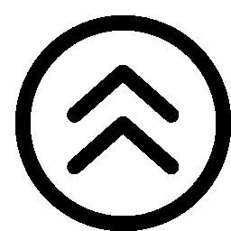 小さな円形の無料アイコンの矢印上向き