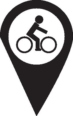 ピン自転車無料アイコン