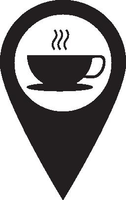 ピン コーヒー ショップ無料アイコン