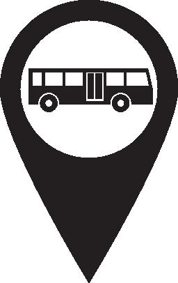 ピン マップ バス無料アイコン