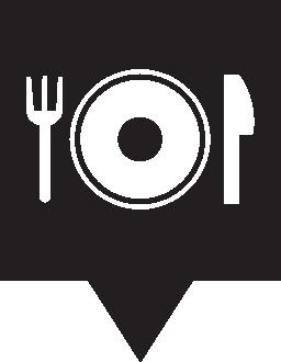 ピン マップ レストラン無料アイコン
