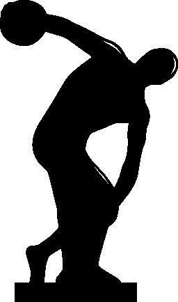 Discobulus。ギリシャの体操選手無料アイコンの彫刻