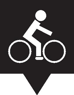ピン マップ自転車無料アイコン
