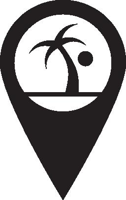 ピン マップ ビーチ無料アイコン