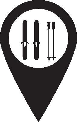 ピン マップ駅スキー無料アイコン