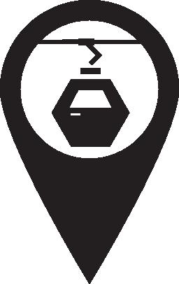 ピン マップ ケーブルカー無料アイコン