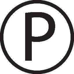 P ロゴ円無料アイコン