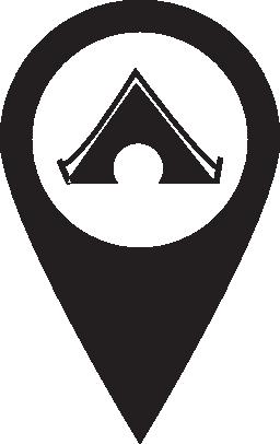 キャンプの場所無料アイコン