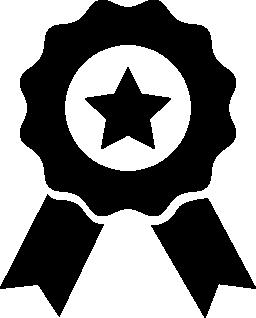 星とリボン無料アイコン紫綬褒章を受章
