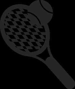 テニス ラケットとボール スポーツ オブジェクト無料のアイコン