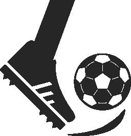 足蹴ってサッカー ボール無料アイコン