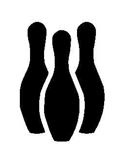 ボウリング エンターテイメント無料アイコン