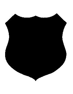黒い盾形無料アイコン