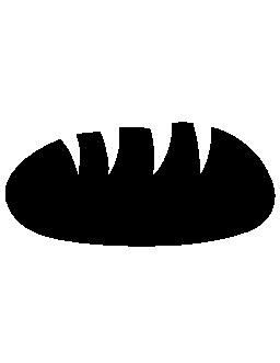黒のパンの形の無料のアイコン