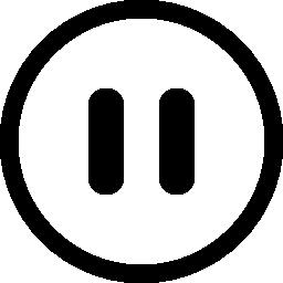 無料ベクトルのアイコンの最大のデータベース円形の一時停止ボタン無料アイコン