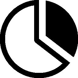 無料のアイコンを円形の円グラフ