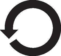 循環左回りに回転矢印無料アイコン
