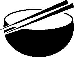 東洋の茶碗やお箸の無料アイコン