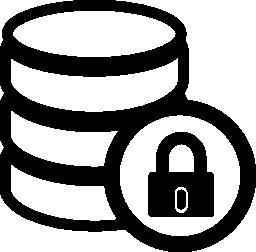 ロックされたデータベースの無料アイコン