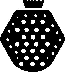 ボウル果物無料アイコンの形で
