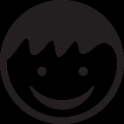 無料アイコンの顔を笑顔で子供の頭