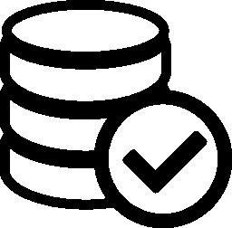 適切なデータベース無料アイコン