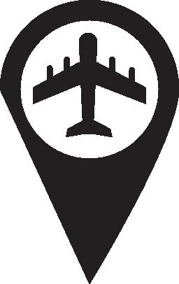 マーカー空港無料アイコン
