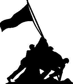 硫黄島の旗を上げます。EEUU 無料アイコンの記念碑