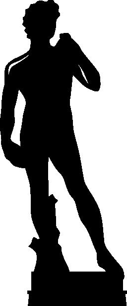 ダビデの像。イタリア無料アイコンを彫刻します。